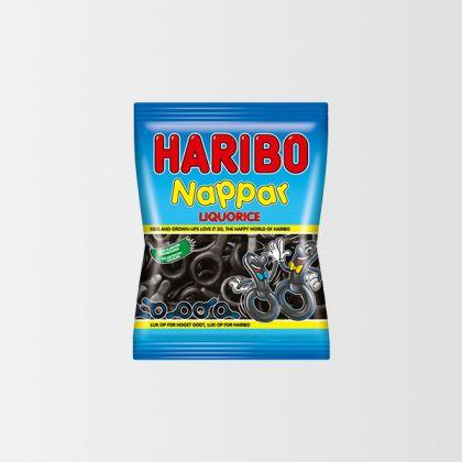 Haribo Nappar Licorice 80g