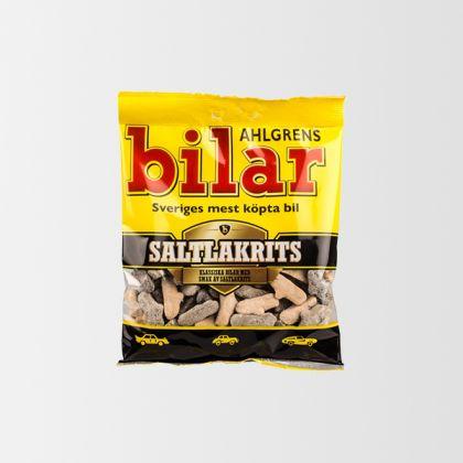 Ahlgrens Bilar Saltlakrits 100g