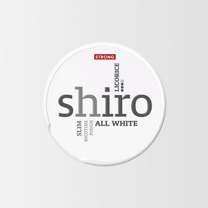 Shiro Licorice Strong Slim All White